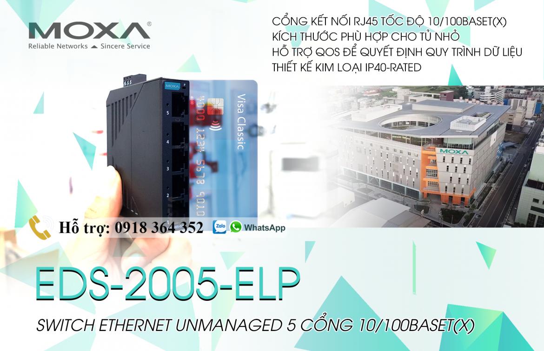 EDS-2005-ELP – Switch Ethernet-Managed-5 cổng 10/100Baset(x)