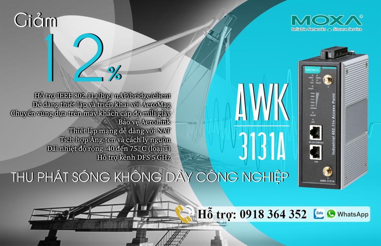 AWK-3131A-EU: Bộ Wireless Công Nghiệp giá tốt nhất, Đại Lý Moxa Việt Nam