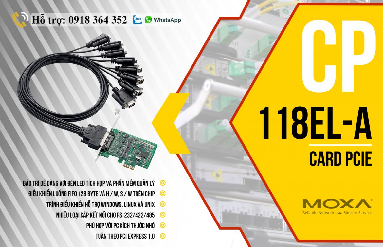CP-118EL-A: Card PCIe Moxa giá rẻ, Đại Lý Moxa Việt Nam