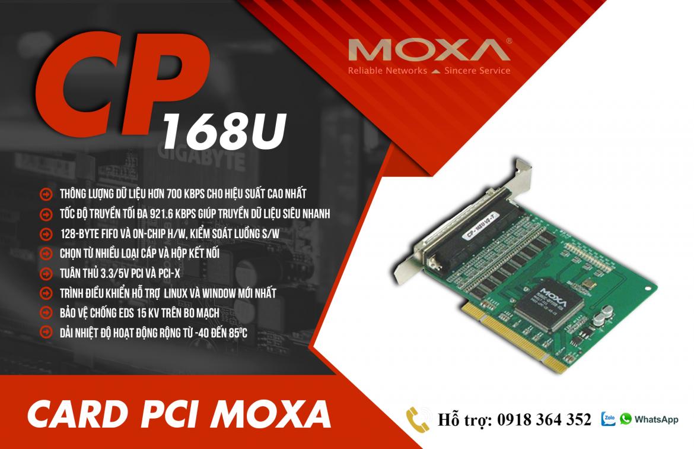 CP-168U: Card PCI Moxa giá rẻ, Đại Lý Moxa Việt Nam