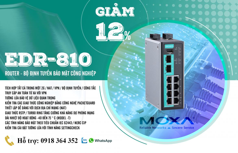EDR-810-2GSFP: Bộ định tuyến công nghiệp Moxa 8 cổng mạng giá tốt nhất, Đại Lý Moxa Việt Nam