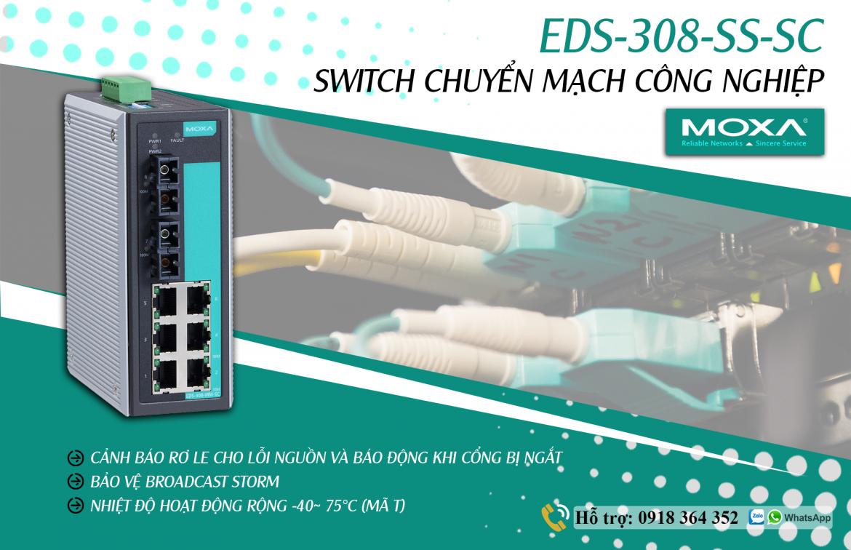 EDS-308-SS-SC: Switch chuyển mạch công nghiệp giá rẻ, Đại lý Moxa Việt Nam