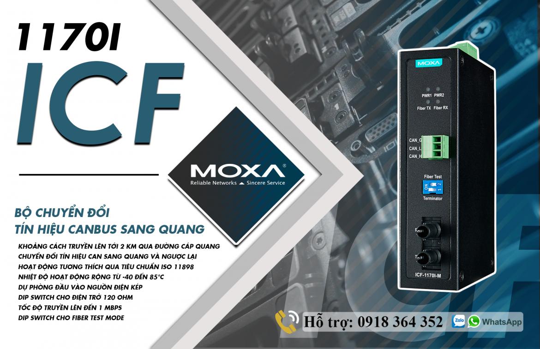 ICF-1170I-M-ST-T: Bộ chuyển đổi tín hiệu CanBus sang quang giá rẻ, Đại Lý Moxa Việt Nam