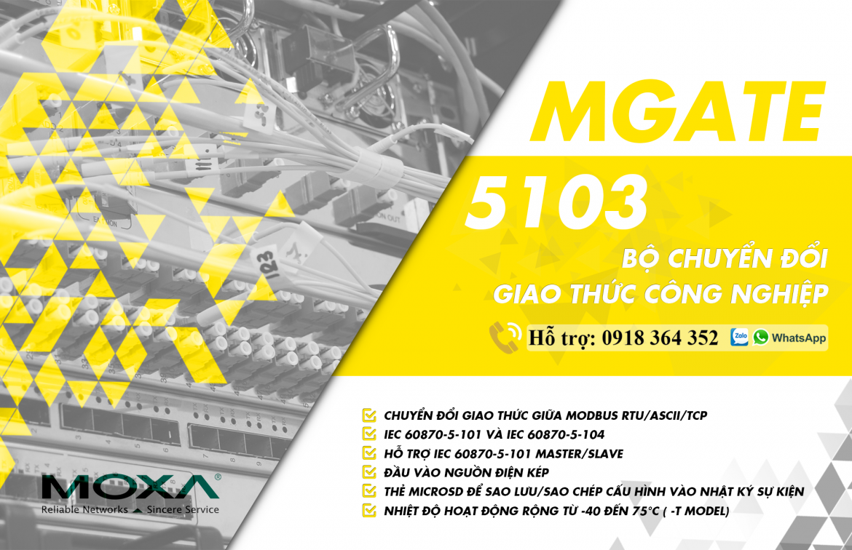 MGate 5103: Bộ chuyển đổi giao thức công nghiệp giá rẻ, Đại Lý Moxa Việt Nam