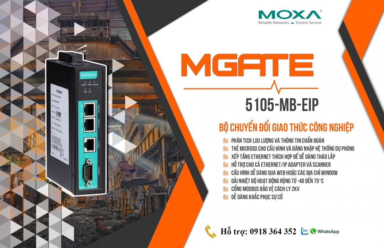 MGate 5105-MB-EIP-T: Bộ chuyển đổi giao thức công nghiệp giá rẻ, Đại Lý Moxa Việt Nam