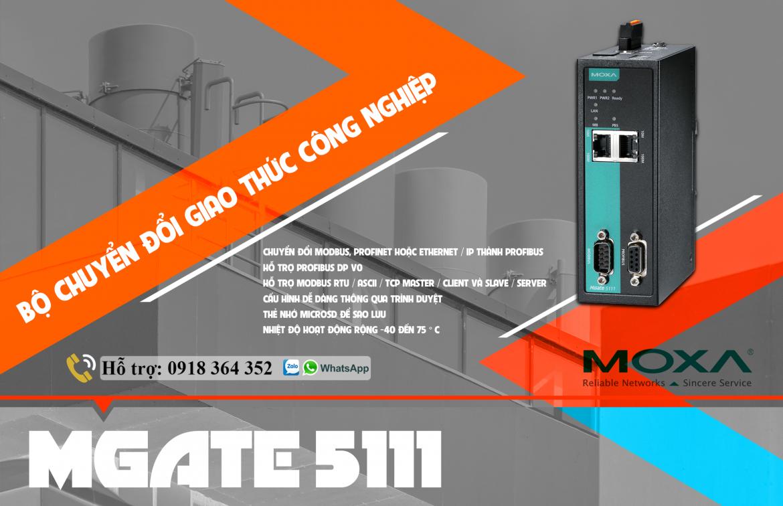 Mgate 5111: Bộ chuyển đổi giao thức công nghiệp giá rẻ, Đại Lý Moxa Việt Nam