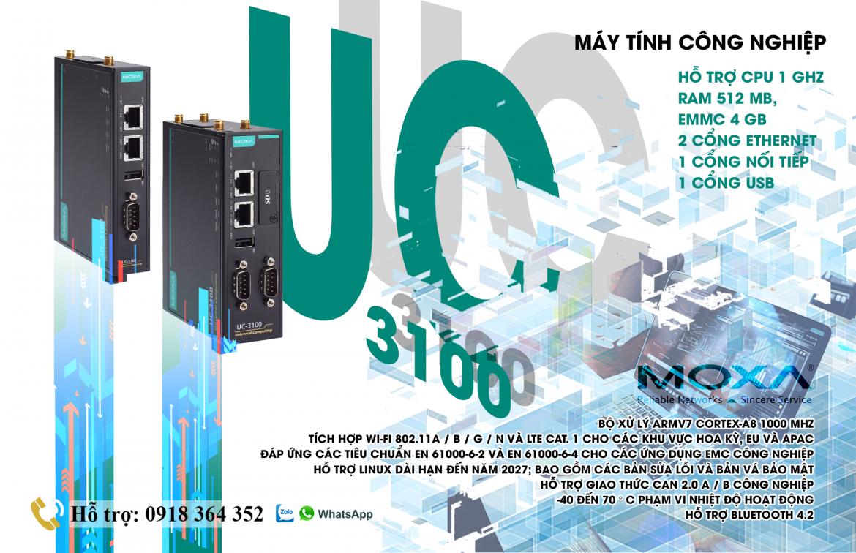 UC-3101-T-AP-LX: Máy tính nhúng công nghiệp giá tốt nhất, Đại Lý Moxa Việt Nam