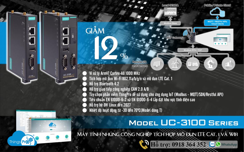 UC-3101-T-EU-LX: Máy tính nhúng công nghiệp giá tốt nhất, Đại Lý Moxa Việt Nam
